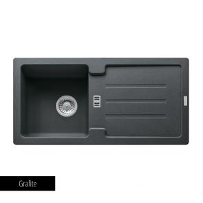 Chiuvetă bucătărie 1 cuvă și picurător Fragranit Franke STRATA STG 614-86_grafite