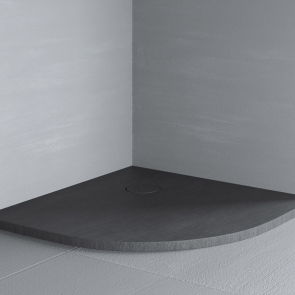 Cadita de dus semirotunda 90x90 cm Glass RAZOR