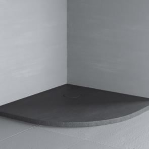Cadita de dus semirotunda 100x100 cm Glass RAZOR