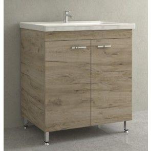 baza lavoar baie cu picioare laminat sau lacuit
