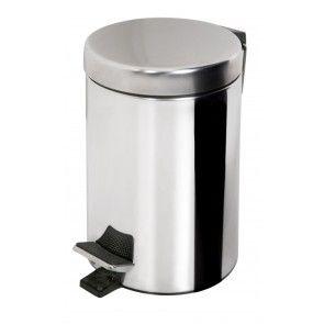Cos de gunoi metalic INOX cu pedala, 5 litri, AWD02030009