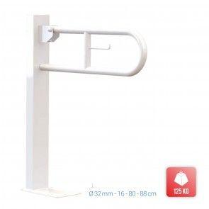 Bara de sustinere cu fixare in pardoseala pentru persoane dizabilitati Metaform Comfort Line 101D08004, alb