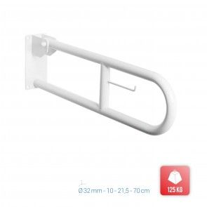 Bara de sustinere rabatabila baie pentru persoane dizabilitati Metaform Comfort Line 101310004, alb