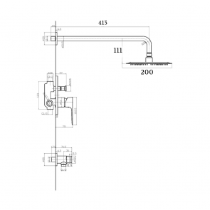 Baterie ingropata cu set de dus CasaBlanca LAVEO BLV77P, crom lucios