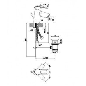 Baterie lavoar CasaBlanca AERO S ARS2 - cu economie de apa