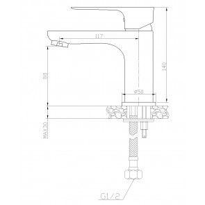 Baterie lavoar CasaBlanca LAVEO ALB-CROM BLV2-A