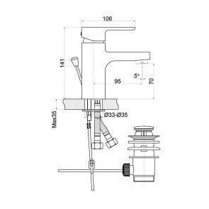 Baterie lavoar CasaBlanca AVENA BAV2