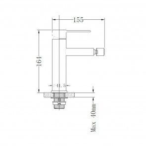 Baterie INOX pentru bideu CasaBlanca STEEL BLR6