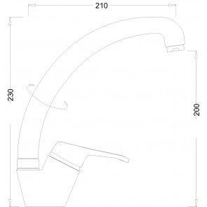 Baterie chiuveta de bucatarie gat de lebada CasaBlanca STREVI BSR4A