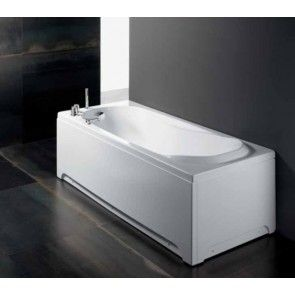 Cada de baie Lis 160 x 70 cm, acril alb, pentru bai mici