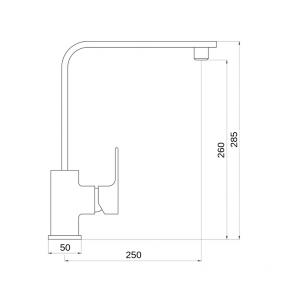 Baterie chiuveta de bucatarie gat de lebada CasaBlanca NEO BNO4A