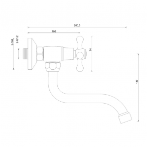 Baterie chiuveta de bucatarie cu teava medie (15cm) CasaBlanca STILO BTI5