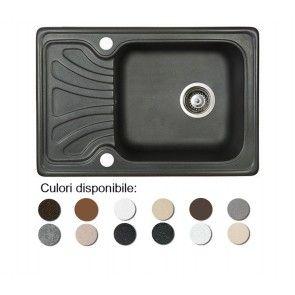 Chiuveta bucatarie granit compozit anticalcar 1 cuva si un picurator mic DATO / DAFNE