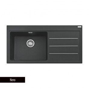 Chiuvetă bucătărie Fragranit Franke MYTHOS FUSION MTF 611, 1 cuvă cu picurător dreapta + 2 accesorii