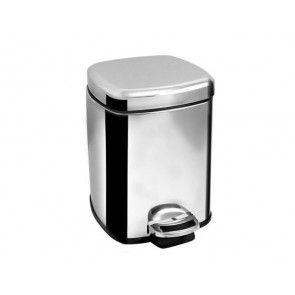 Cos de gunoi cu pedala, volum 6 litri, inox lucios, AWD02030409 (Accesorii baie)
