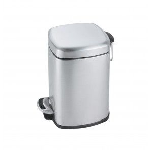 Cos de gunoi cu pedala, volum 6 litri, inox satinat, AWD02030914