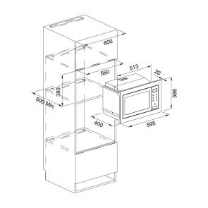 Cuptor cu microunde incorporabil Franke Smart FSM 25 MW XS, inox