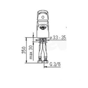 Baterie lavoar cu economie de apa ORAS SOLINA 1591F