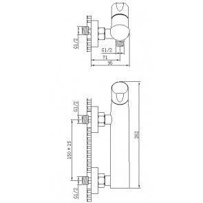 Baterie dus CasaBlanca LYRA BLY7 crom