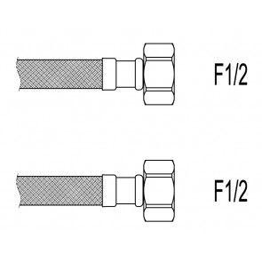 "Racord flexibil apa i-i, 1/2""x1/2"", 30 cm Techman PWS2"