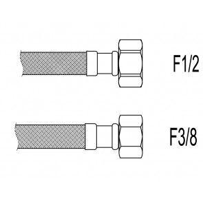 "Racord flexibil apa i-i, 1/2""x 3/8"", 30 cm Techman PWS82"