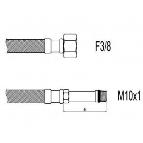 "Racord flexibil baterii M10xF3/8"" cu capat lung 40cm Techman WBS438"