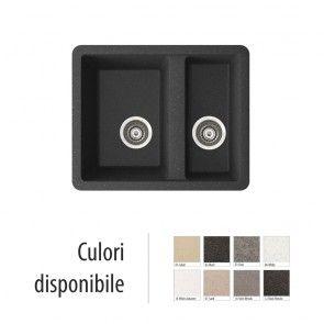 Chiuveta bucatarie granit compozit incastrabila, anticalcar 1,5 cuve FADO / FEDERICA
