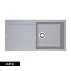 Chiuveta bucatarie 1 cuva mare cu picurator Fragranit Franke MARIS MRG 611-L_Alluminio