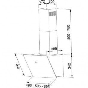 Hota decorativa Franke VERTICAL FVT 605 BK, 60 cm, negru