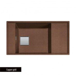 Chiuveta bucatarie granit compozit Fragranit 1 cuva si un picurator adanc Franke FRESNO FSG 211-86_Copper Gold