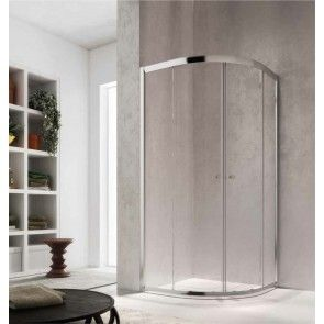 Cabina de dus semirotunda cu usi glisante Glass Isy IY, 90x90cm