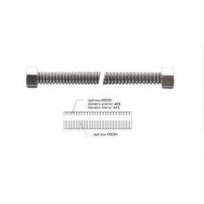 Racord flexibil apa  INOX gofrat F1/2