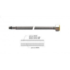 Racord flexibil din INOX gofrat F1/2