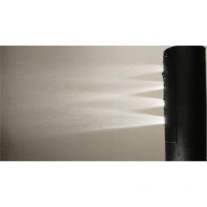 Coloana de dus cu baterie termostatata Laveo PRETTO, negru satinat