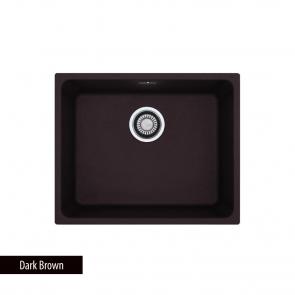 Chiuveta bucatarie 1 cuva Fragranit Franke KUBUS KBG 210-50, Filotop, Dark Brown