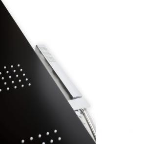 Panel dus cu hidromasaj Metaform MANHATTAN, 4 functii, negru