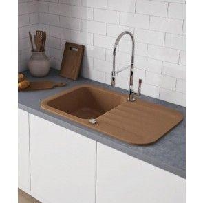 Chiuvetă bucătărie granit compozit anticalcar 1 cuvă și un picurător IGNIS / INGRID