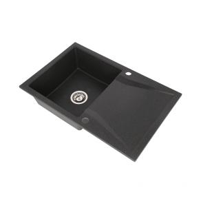 Set Chiuveta granit 1 cuva CasaBlanca NERA NEGRU+ Baterie bucatarie granit BLACK4H