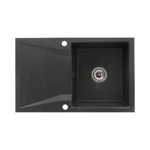 Chiuveta bucatarie granit 1 cuva si picurator CasaBlanca NERA NEGRU