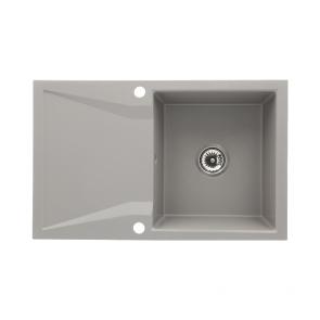 Chiuveta bucatarie granit 1 cuva si picurator, reversibila CasaBlanca NERA GRI