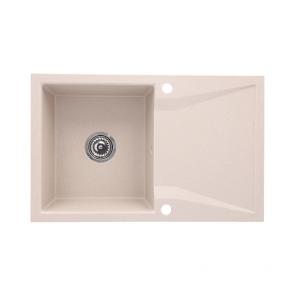 Chiuveta bucatarie granit compozit 1 cuva si picurator, reversibila CasaBlanca NERA SAND_dr