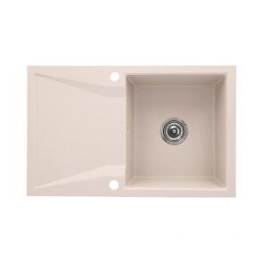 Chiuveta bucatarie granit compozit 1 cuva si picurator, reversibila CasaBlanca NERA SAND