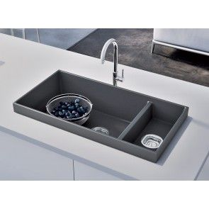 Chiuvetă bucătărie granit compozit anticalcar 1,5 cuve HighRise OLWIN / OXANA