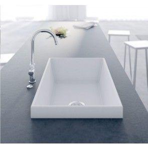 Chiuvetă bucătărie granit compozit anticalcar 1 cuvă dreptunghiulară HighRise OLWIN / OXANA