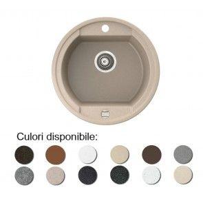 Chiuveta bucatarie granit compozit anticalcar 1 cuva rotunda OTAGO