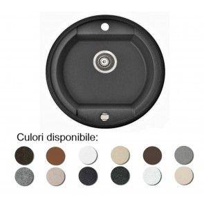 Chiuveta bucatarie granit compozit anticalcar 1 cuva rotunda OTAGO / ORIANA