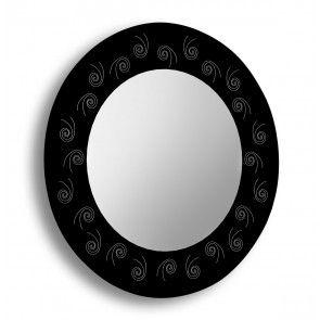 oglinda baie rotunda rama printata sablata Raia 60