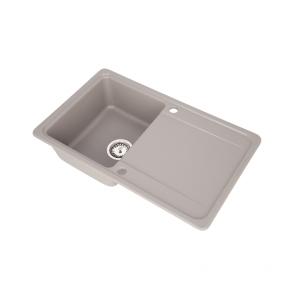 Set Chiuveta granit 1 cuva CasaBlanca SARA GRI + Baterie bucatarie GREY4H