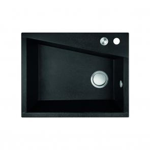 Chiuveta bucatarie granit compozit dreptunghiulara Laveo GRENADA, negru