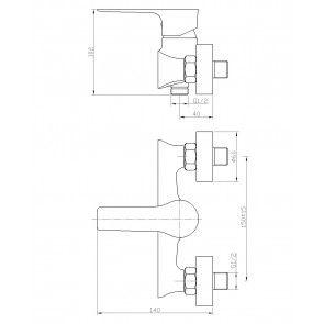 Baterie dus CasaBlanca LAVEO ALB-CROM BLV7-A